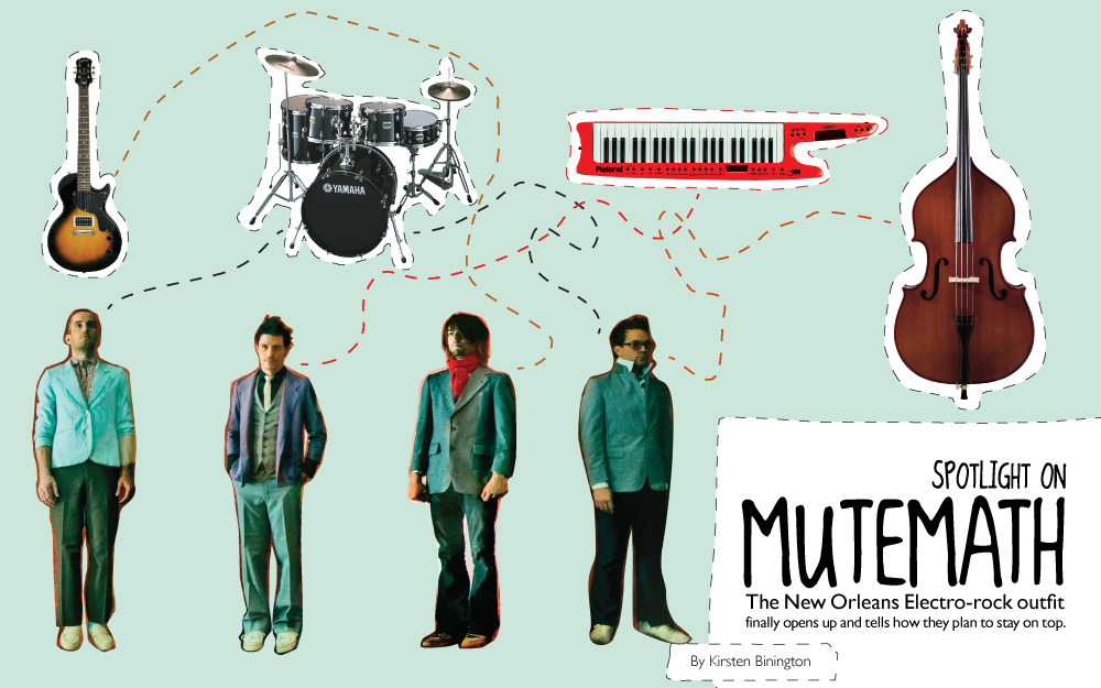 Mutemath magazine article, spread 1