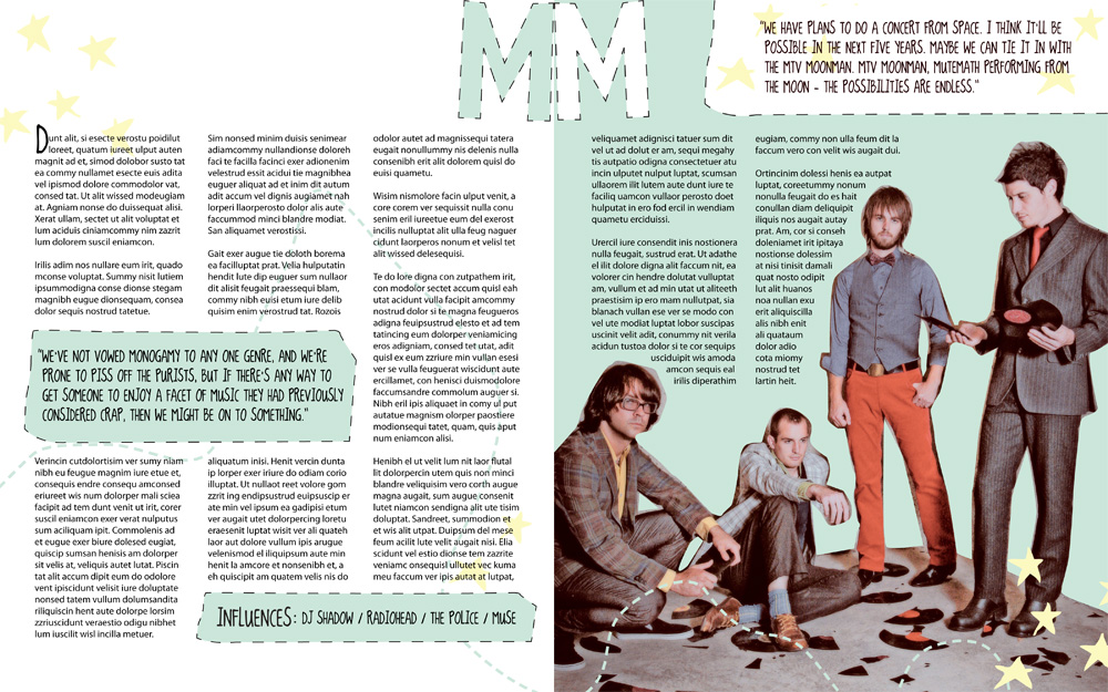 Mutemath magazine article, spread 2
