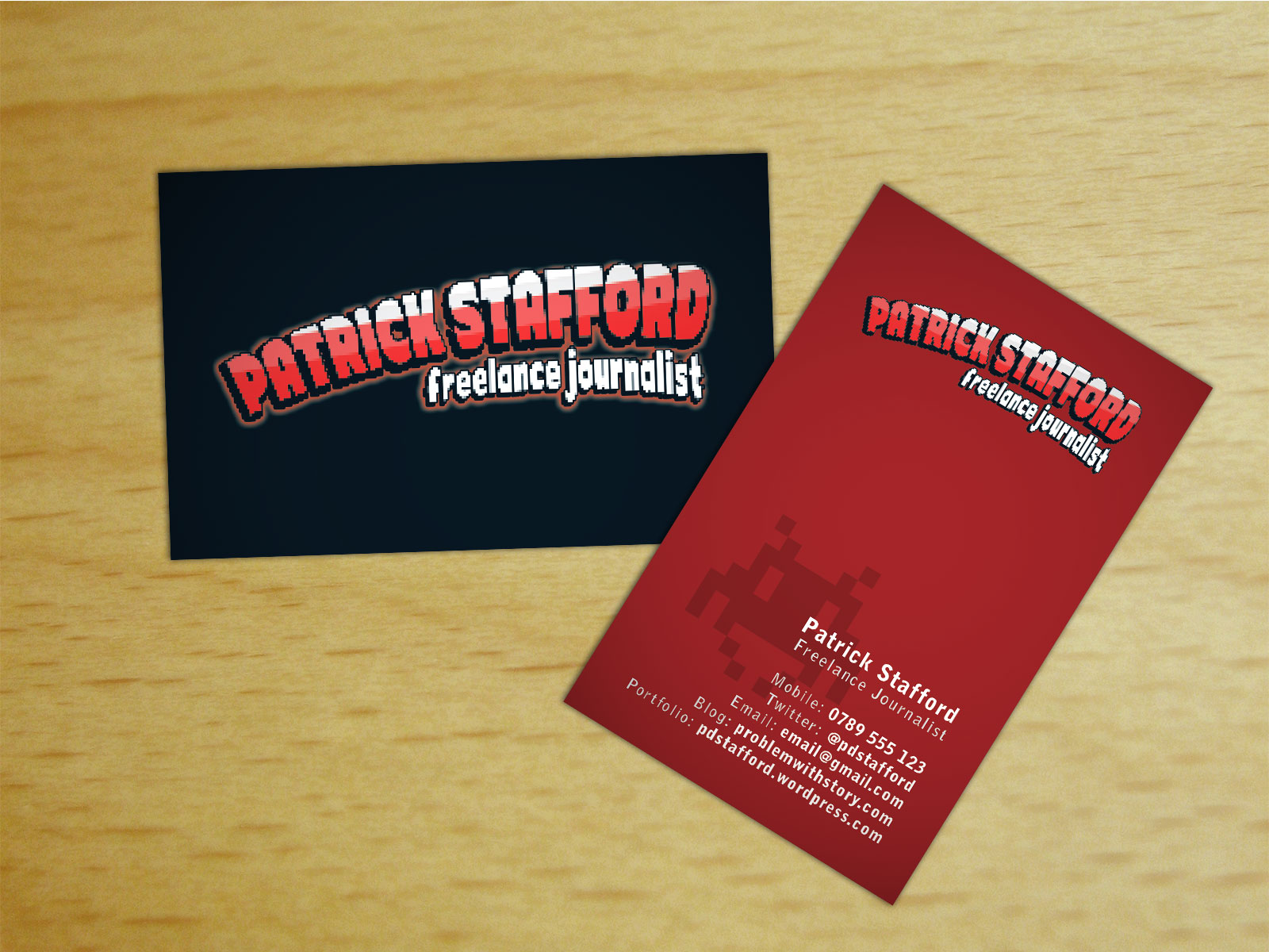 Patrick Stafford: Business Cards – blakmarkitCreative